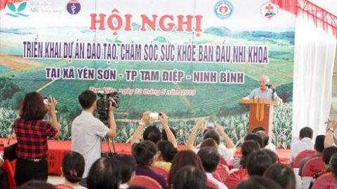 Implemented the first Pediatric Primary Health Care Training Project at the commune level of Ninh Binh